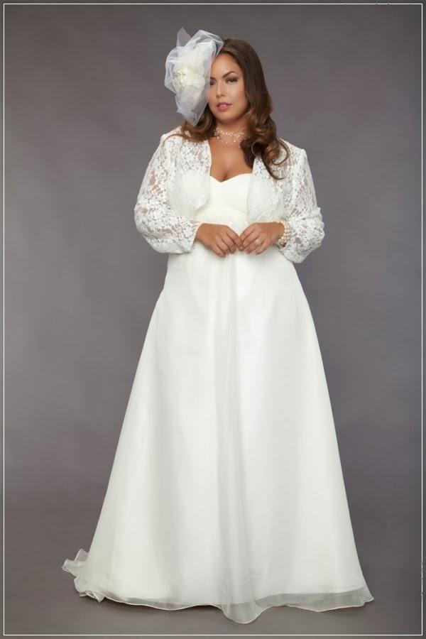 Plus size vintage wedding dress 2014 weddingyuki for Retro wedding dresses plus size
