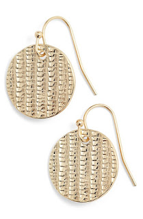 Nordstrom Textured Disc Drop Earrings