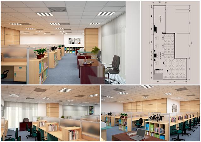 Sử dụng vách ngăn Fami cho các thiết kế văn phòng