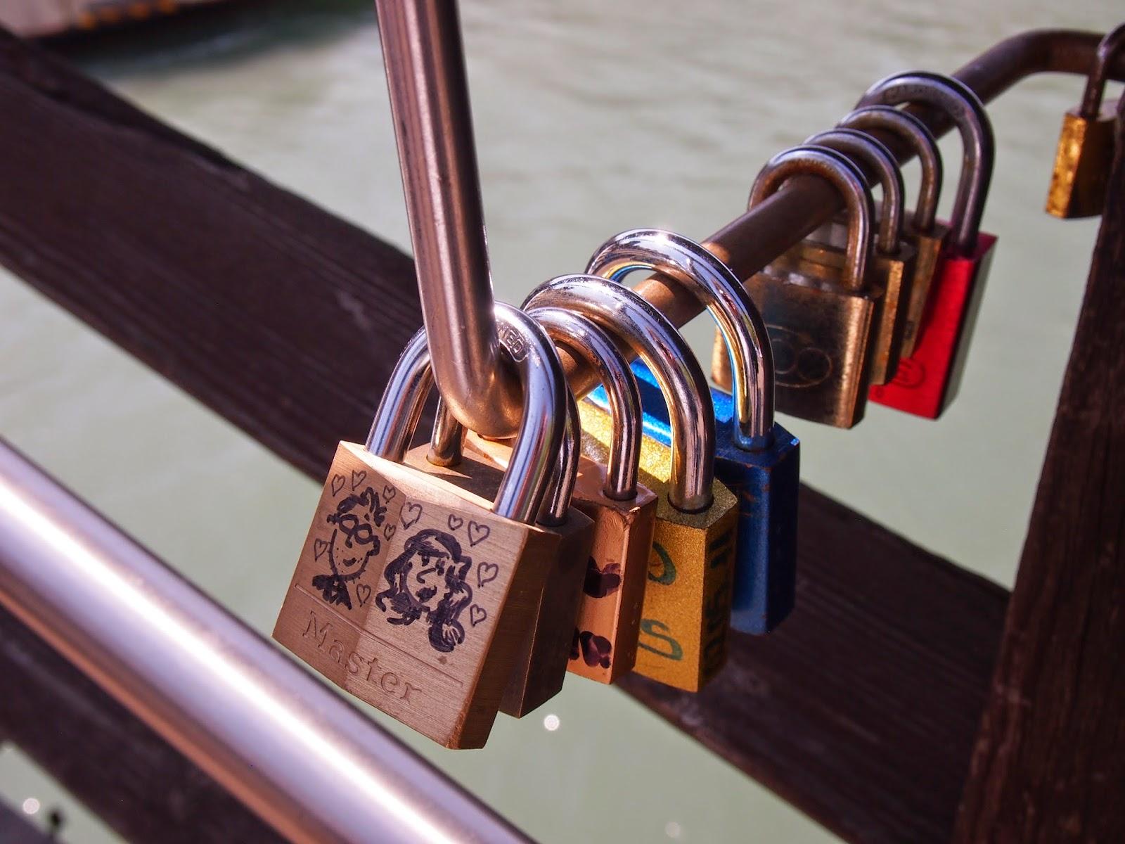 love locks in venice italy