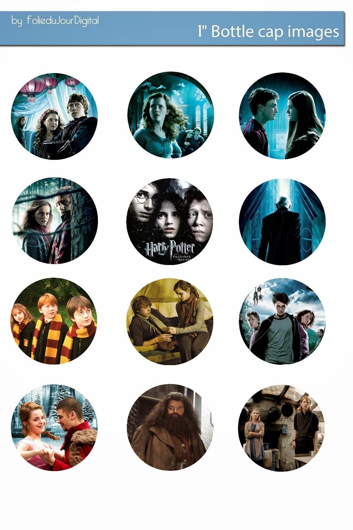 Free Bottle Cap Images: Harry Potter free digital bottle ...