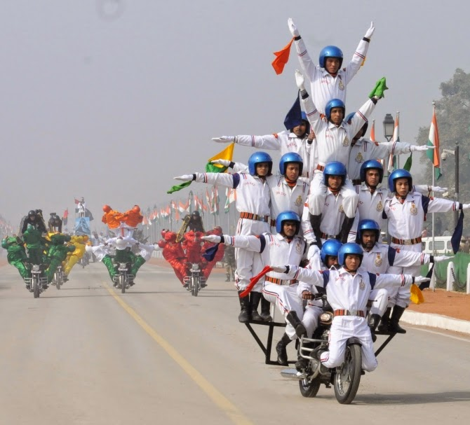 66th republic day bike stunt