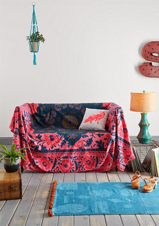 decoração boho, capa de sofá, sofa cover, manta para sofá, sofá, faça você mesmo, decoração, diy, sofa blanket, sofá manchado, cobrir sofá