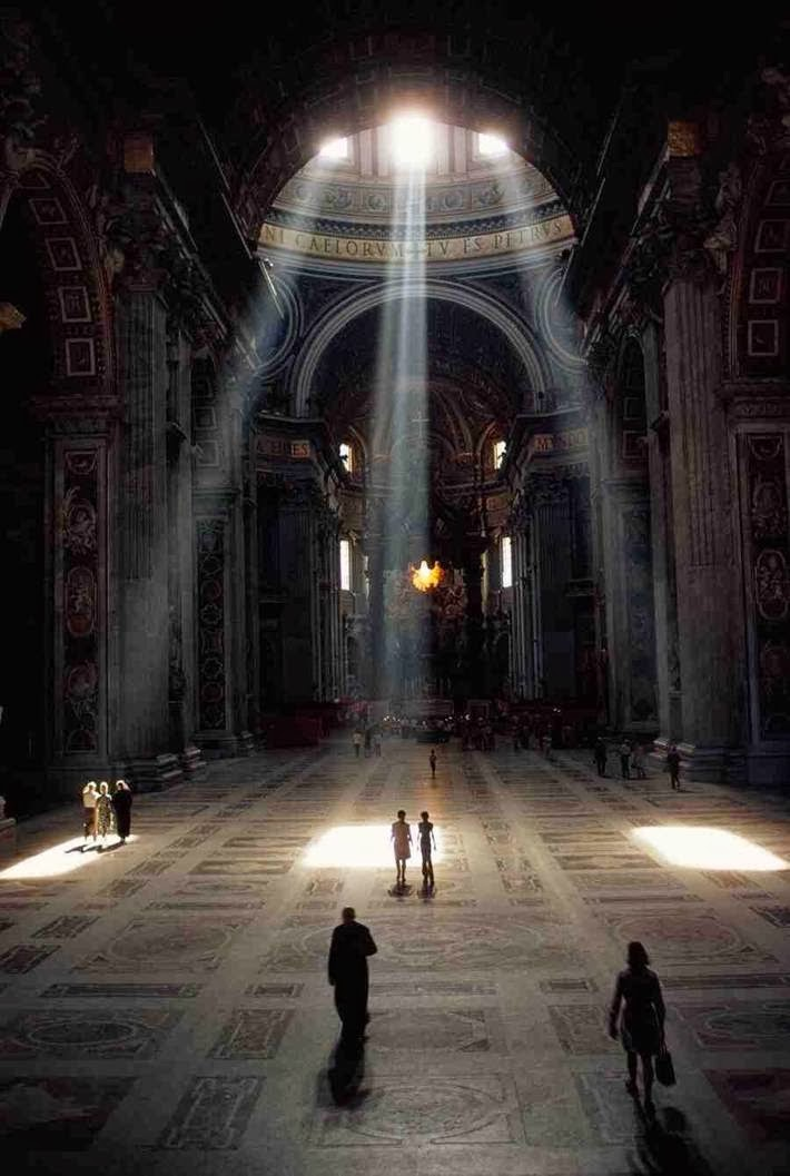 St. Peter's Basilica in the morning, the Vatican.