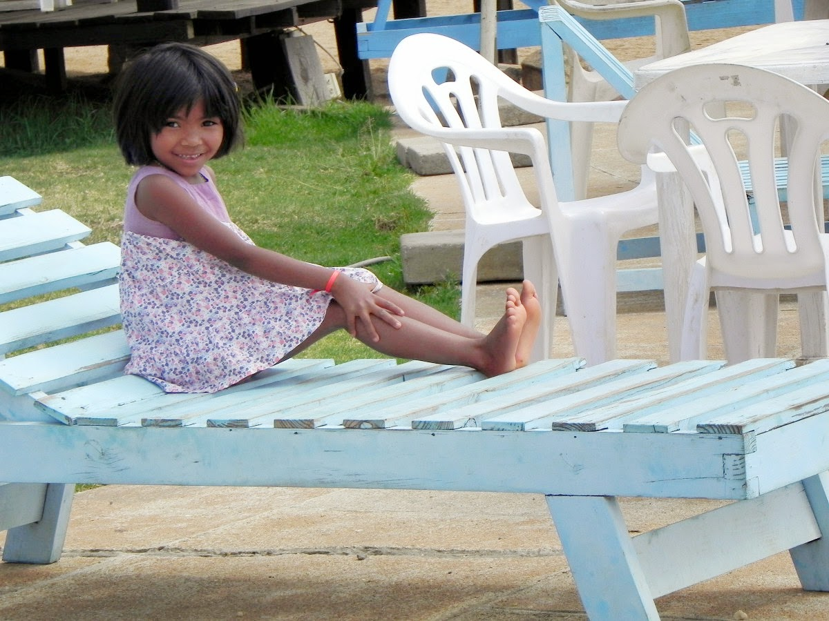 Girl on Beach Chair at Batou Beach