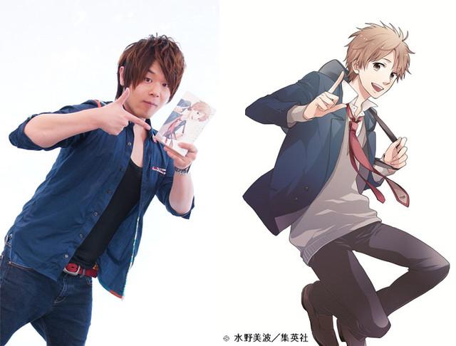 Yoshitsugu Matsuoka dublador de Natsuki Hashiba do anime shoujo Nijiiro Days
