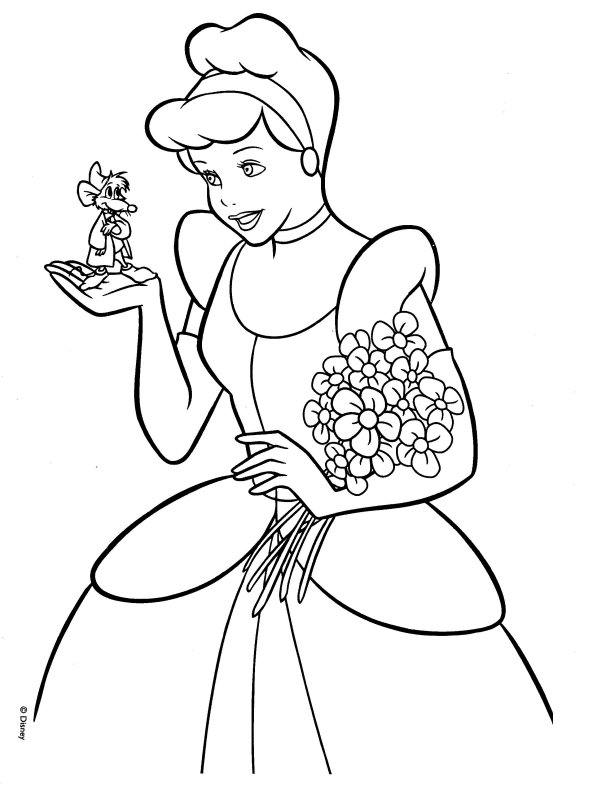 free cinderella carriage coloring pages - photo#13