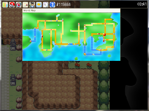 Pokemonium free pokemon mmo game world map screen shot