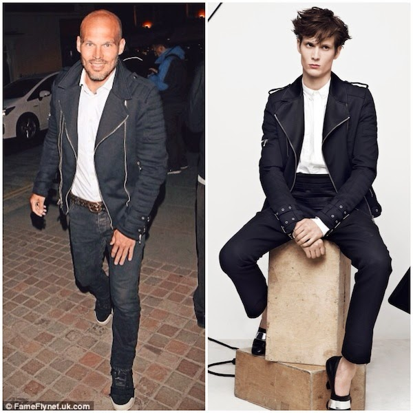 Freddie Ljungberg Balmain SATIN-TRIMMED WOOL BIKER JACKET Chiltern Fire House London 31 May 2014