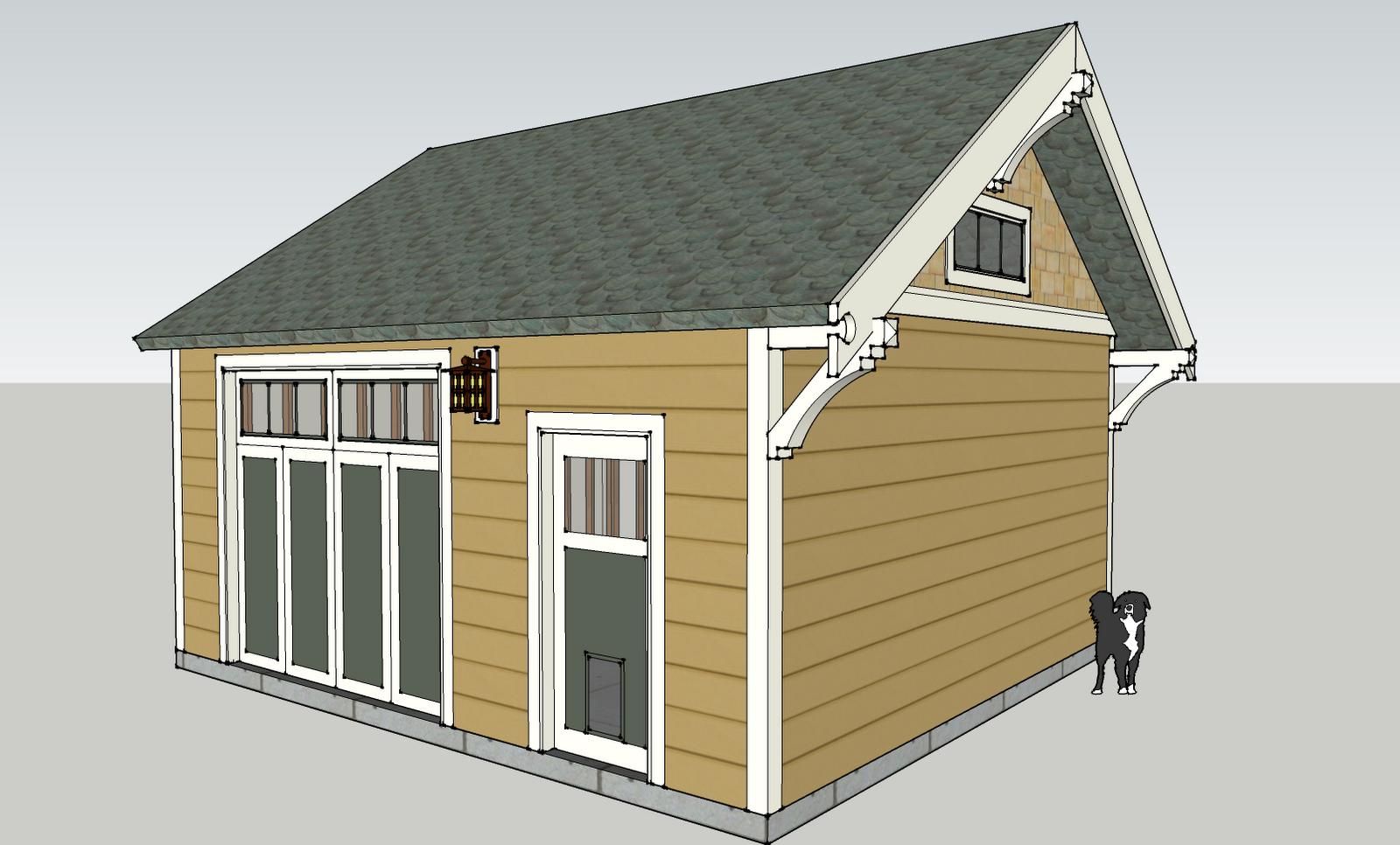 Laurelhurst craftsman bungalow garage rebuild plan for Garage gable