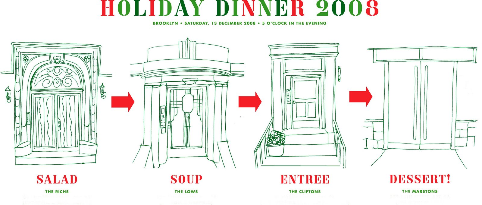 The Wardrobe Curator: Christmas progressive dinner party