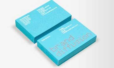 tarjeta de negocio de color azul
