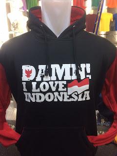 gambar desain terbary foto photo kamera Jaket hoodie Damn! I Love Indonesia terbaru warna merah hitam  di enkosa sport toko online terpercaya lokasi di jakarta pasar tanah abang