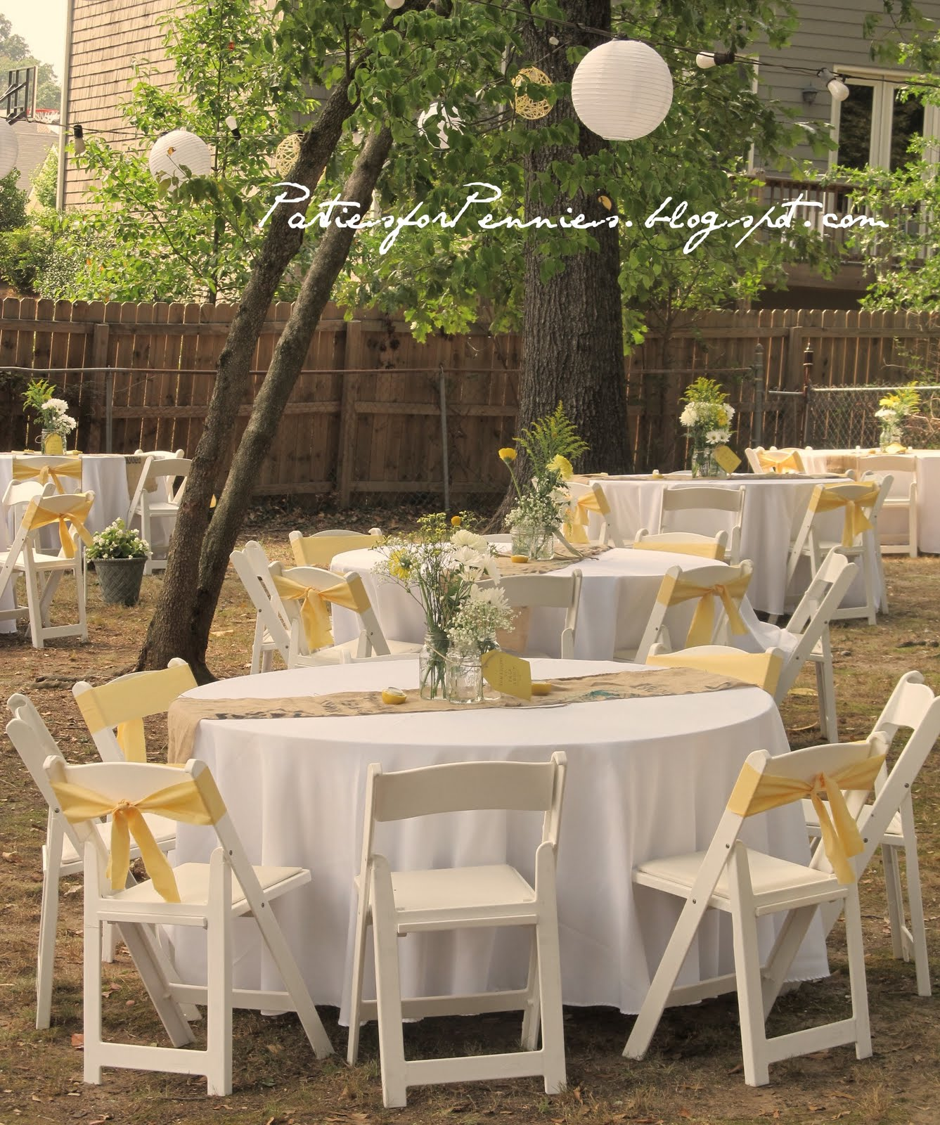 Inexpensive Wedding Ideas Reception Tables: Parties For Pennies: The BIGGEST Party Of My Life