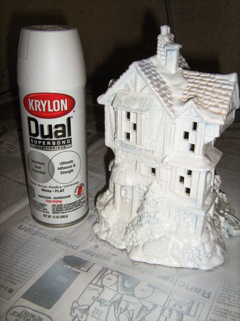 Ceramic christmas houses to paint - I