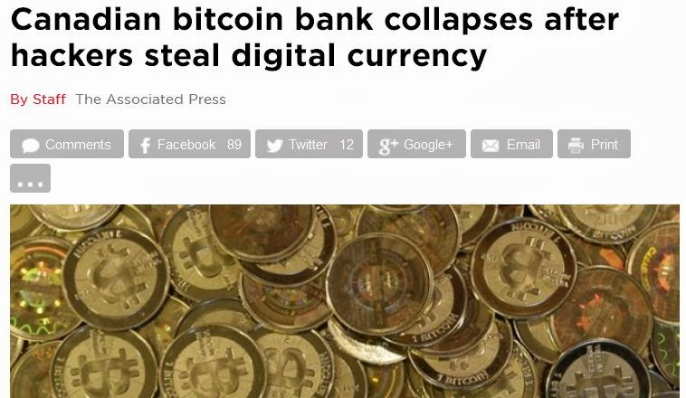 Bitcoin Bank Folds