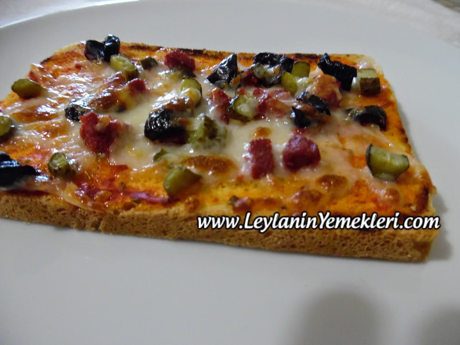 Tost Ekmekli Kıtır Pizza