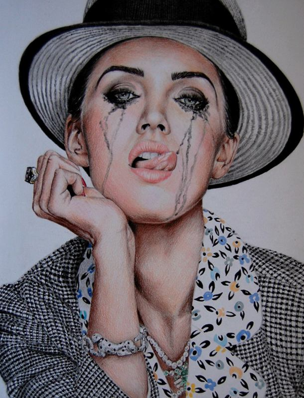Megan Fox (Jalouse) Color Pencil Drawing By Valentina Zou