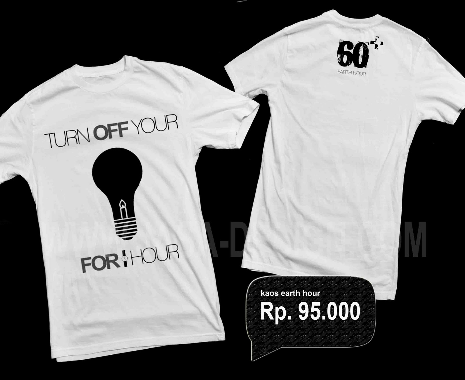 Tee shirt earth hour design services for One hour t shirts