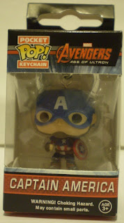 Front of Captain America Pocket Pop Keychain still in the box