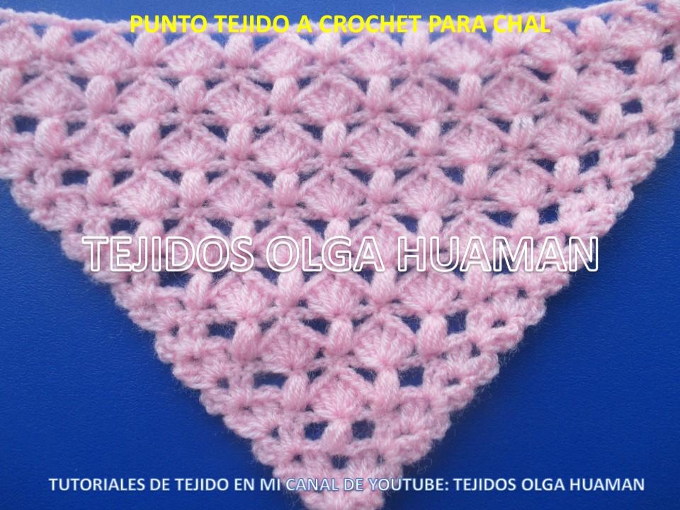 Tejidos olga huaman puntos a crochet para tejer chal - Como tejer mantas al crochet ...