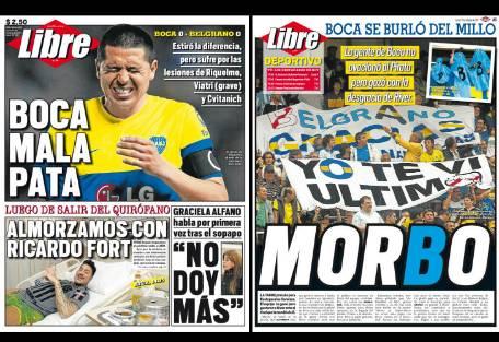 Tapa diario libre boca mala pata report show el mundo for Diario el show del espectaculo