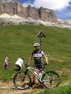 Turbo and family in Dolomites