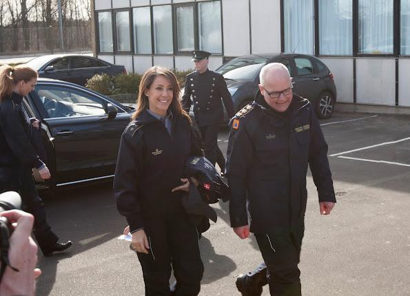 Princess Marie of Denmark visited the Danish Emergency Management Agency (DEMA)