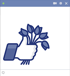 Facebook hand with flowers