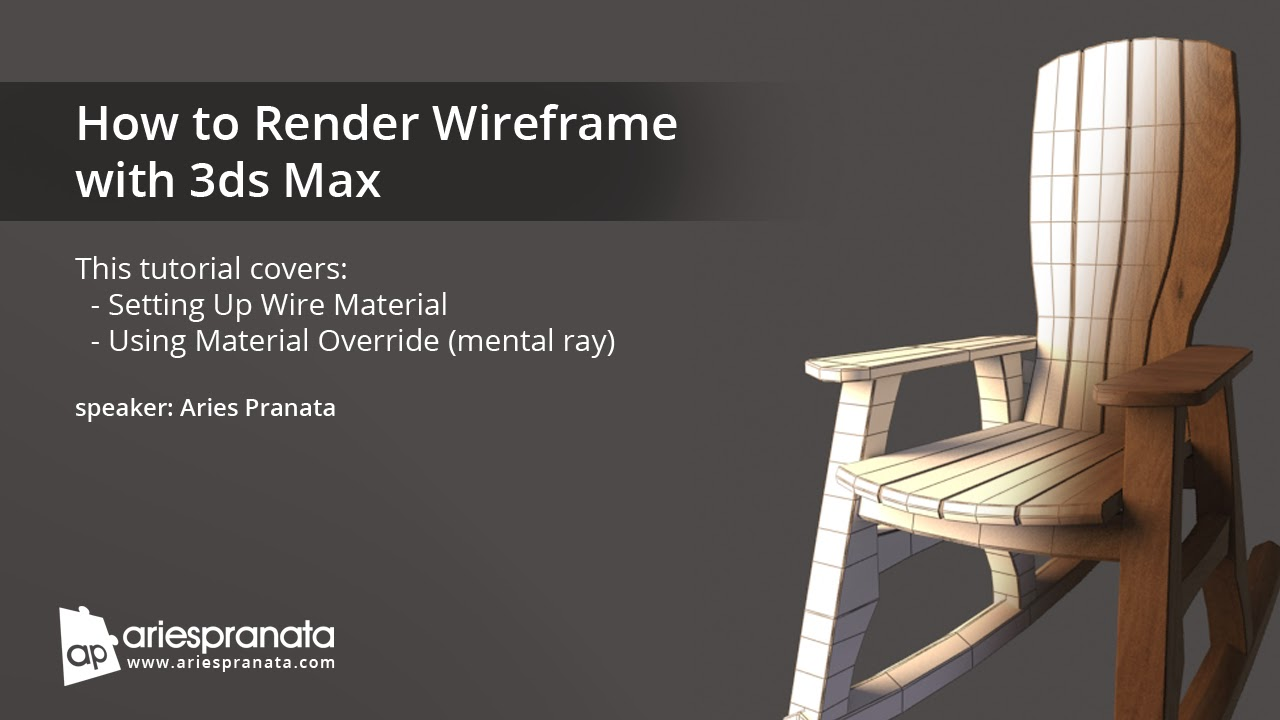 How to render wireframe in 3d Studio MAX