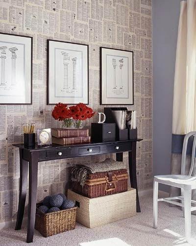 Empapelar paredes con peri dicos amor por la decoraci n - Como empapelar paredes ...
