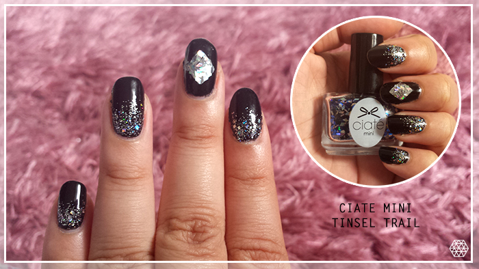 Charlotte pamela nail look black and silver nail art although ive had tinsel trail since christmas from the ciate advent calendar this is my first time using it as i was unsure on what look i could create prinsesfo Gallery