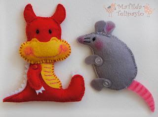 дракон крыса из фетра