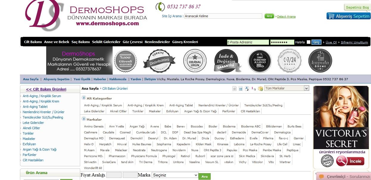 dermoshops, alışveriş, ucuz