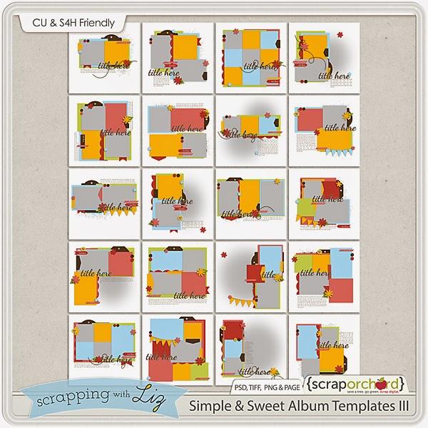 http://scraporchard.com/market/Simple-and-Sweet-Digital-Scrapbook-Album-Templates-II.html