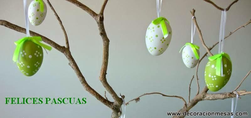 decoracion mesa Pascua adorno felicitacion