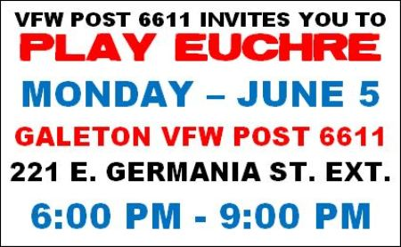6-5 Play Euchre, Galeton VFW