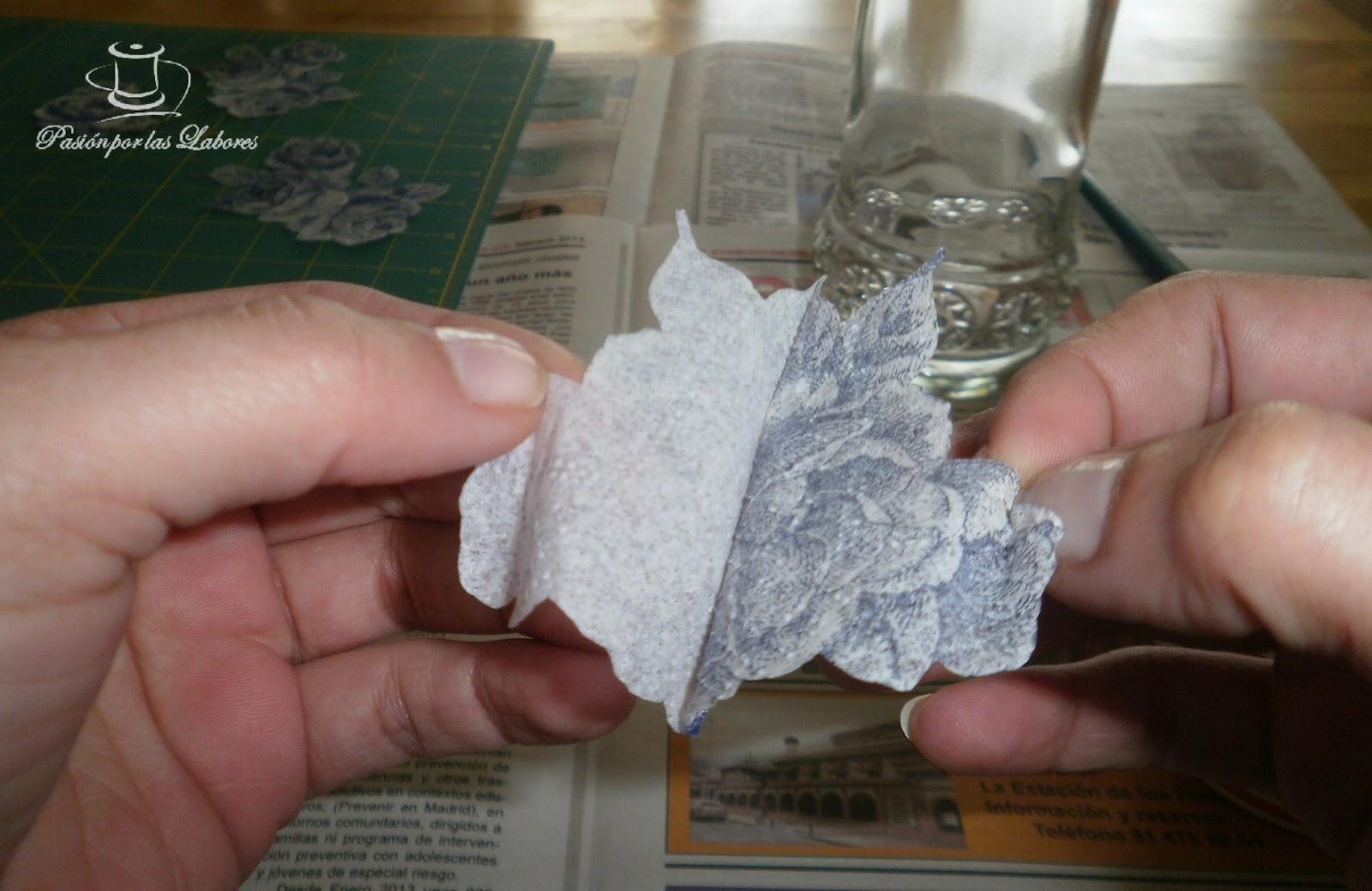 Pasi n por las labores tutorial de decapage en vidrio - Papel para vidrios ...