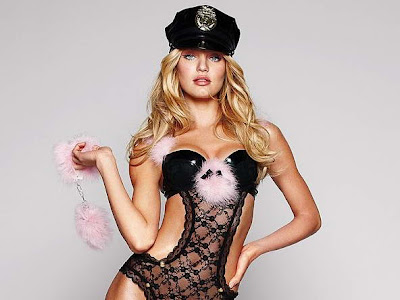 Candice Swanepoel in sexy halloween costume