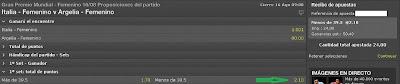 Apuestas Deportivas Rosberg Voleibol Femenino – Grand Prix Italia Bet365