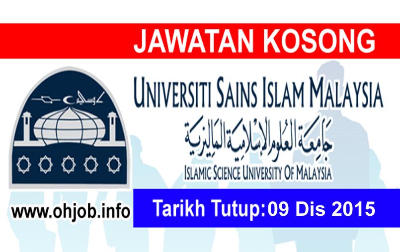 Jawatan Kerja Kosong Universiti Sains Islam Malaysia (USIM) logo www.ohjob.info disember 2015