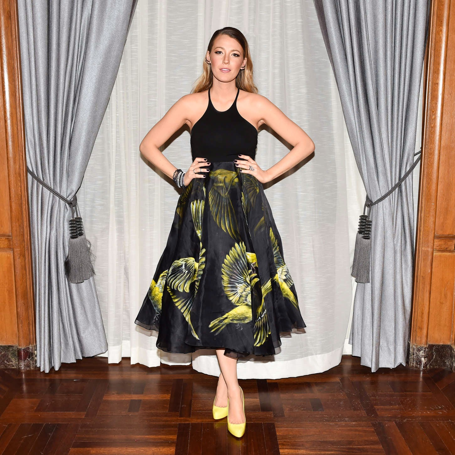 Blake Lively – Marchesa Fashion Show in New York City