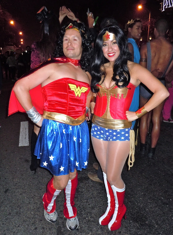 West Hollywood Halloween Carnaval Wonder Woman costumes
