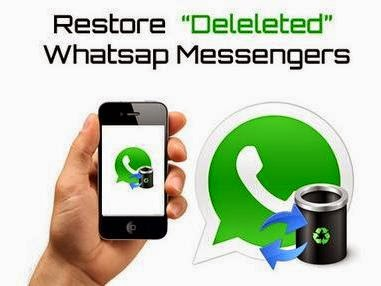 Restore whatsapp deleted messages