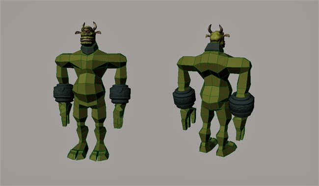Troll Body Base Mesh #1 With Bracers