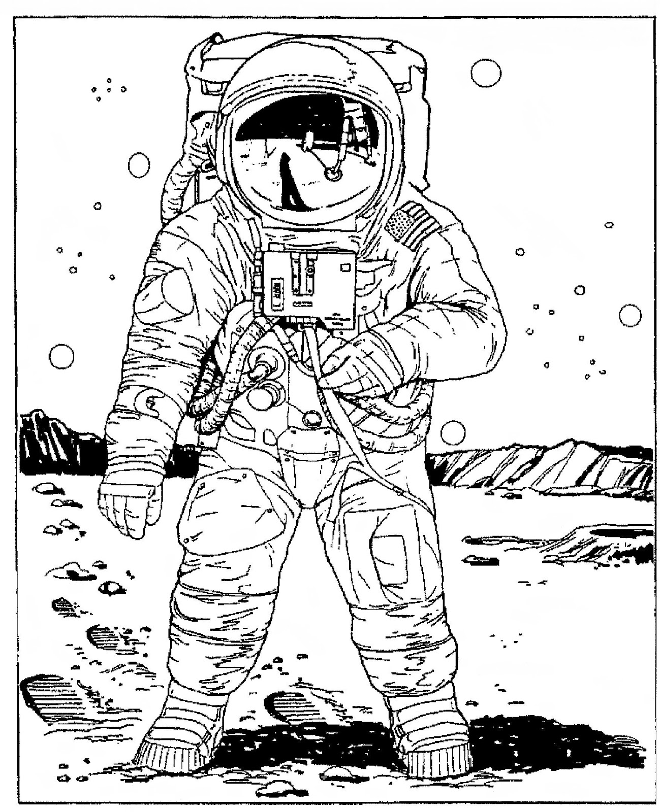 girl astronaut colouring pagesRetro Astronaut Drawing