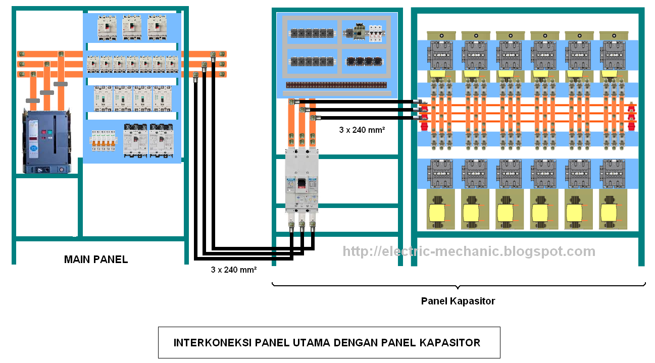cara membuat sendiri panel kapasitor bank industri menggunakan rvc abb rh electric mechanic blogspot com 5 Wire Capacitor Wiring Diagram Power Capacitor Wiring