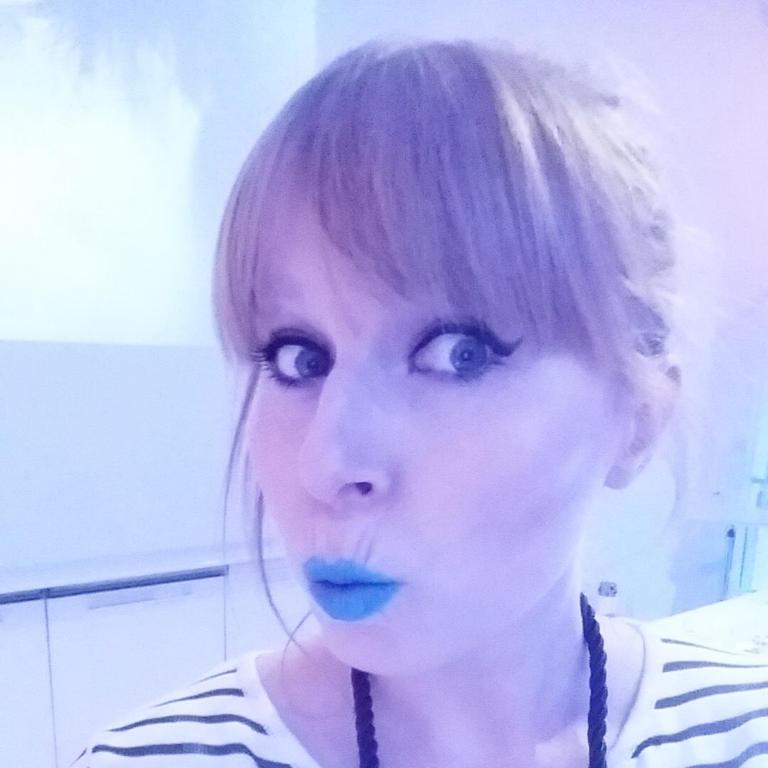 Illamasqua to be alive collection wearing vendetta blue lipstick