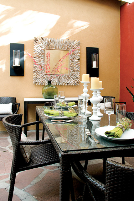 Unusual Dark Rattan Dining Room Tables And Chairs under the White Candle Handles near Unique Lamp