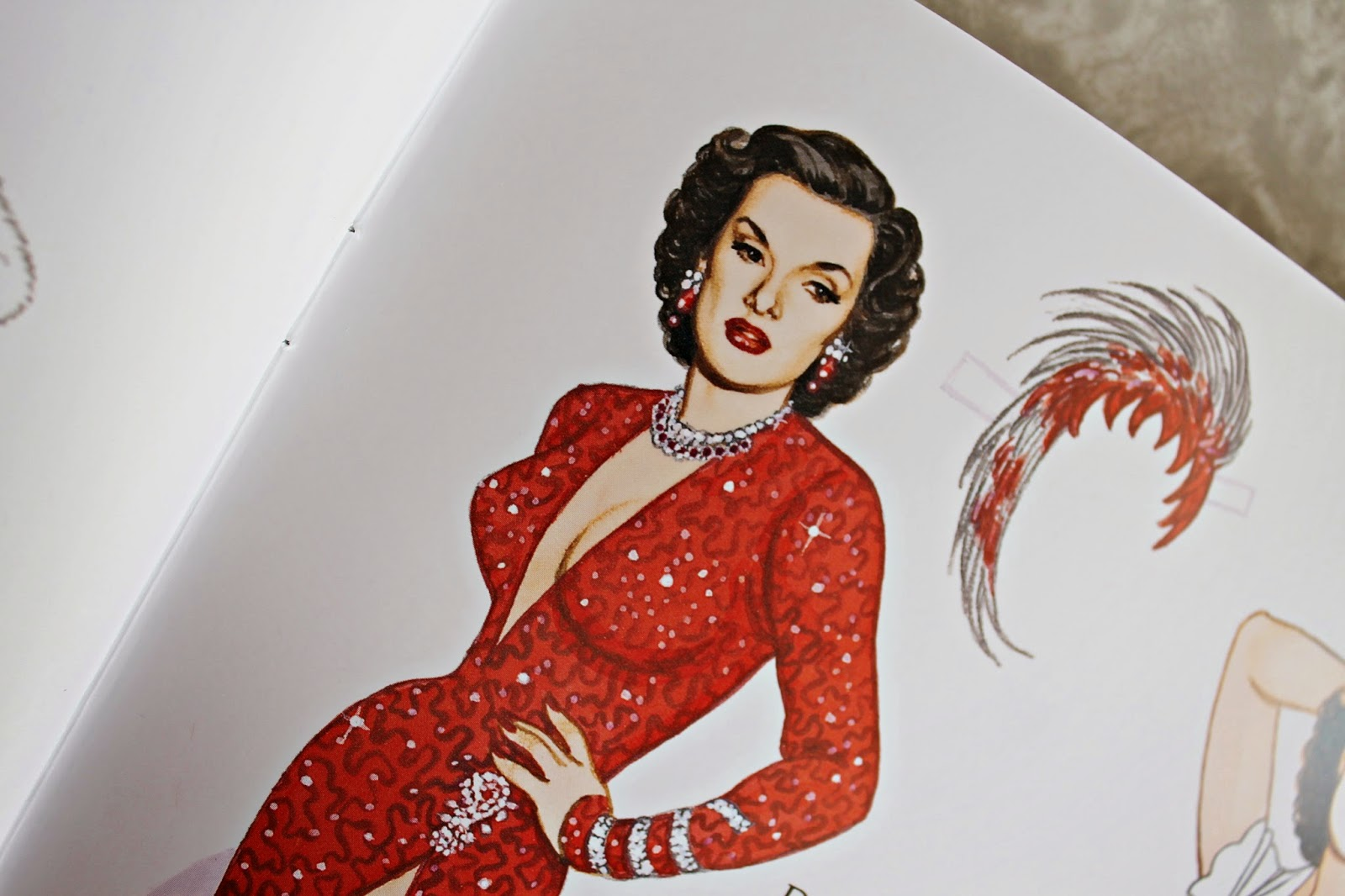 Glamorous Movie Stars of the 1950s paper dolls by Tom Tierney from Dover Publications